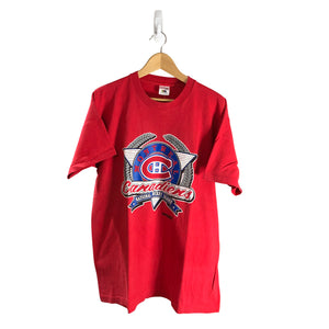 Vintage 1991 Montreal Canadiens T-Shirt *XL*