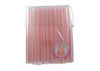 Boba / Bubble Tea Fat Straw 40 per Pack Clear with Color Stripes