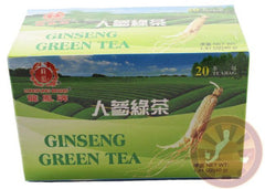 Pure Ginseng & Green Tea 20 Tea Bags ALL NATURAL