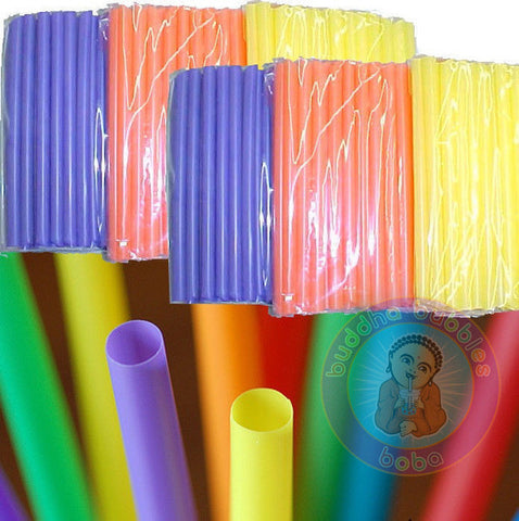 "9"" Boba / Bubble Tea Fat Straw 40 per Pack Solid Colors by BUDDHA BUBBLES BOBA"