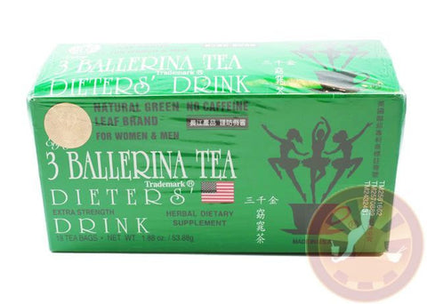 Three Balerina Dieters Tea 16 Tea Bags ALL NATURAL