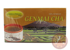 Premium Genmai-Cha Loose Leaf Tea ALL NATURAL 100 Tea Bags
