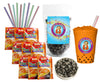 DeDe Instant Boba Tea Kit 9 Drink Packets, Straws & Boba Thai Iced Tea