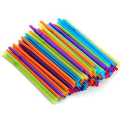 200 Buddha Bubbles small color straws with bent / flex top