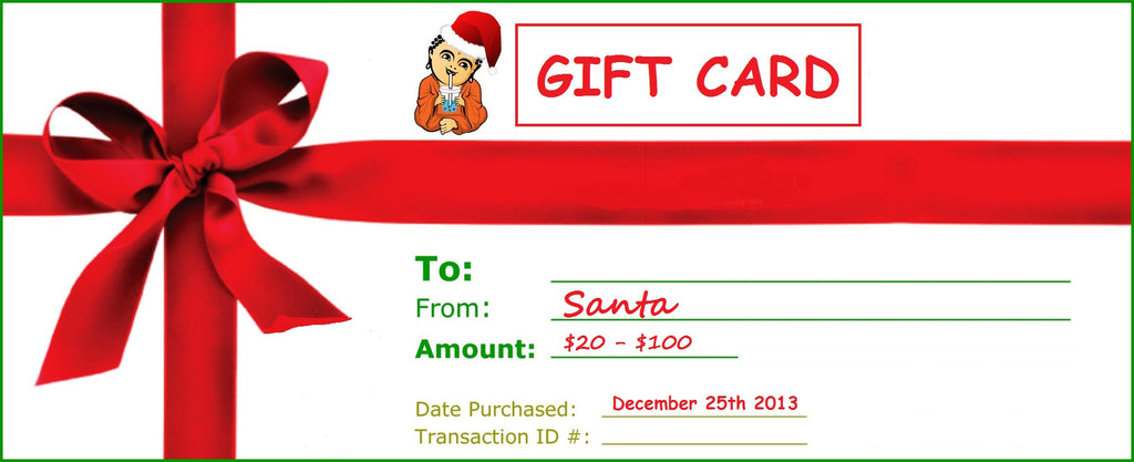 A Perfect Christmas Gift for Everyone BUDDHA BUBBLES BOBA Gift Card