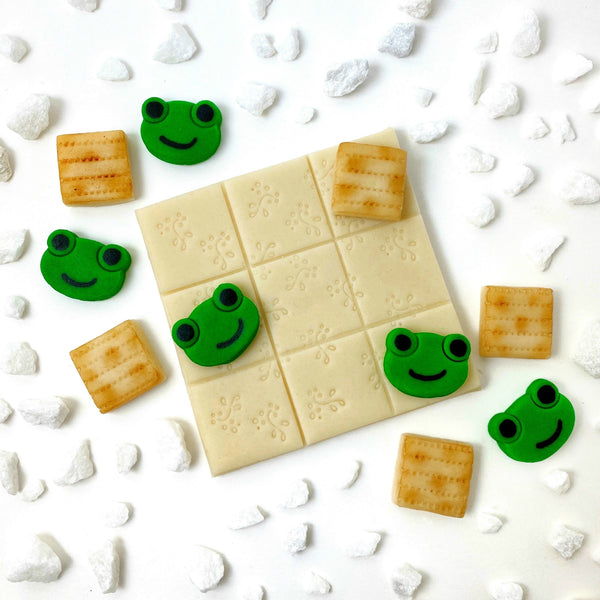 Passover Seder tic tac toe marzipan candy game treats