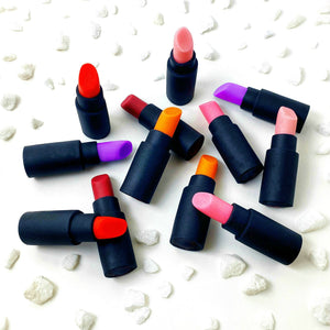 edible lipsticks make up marzipan candy sculpture treats