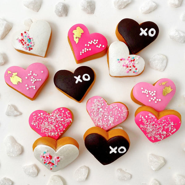 valentine's day heart donuts layout