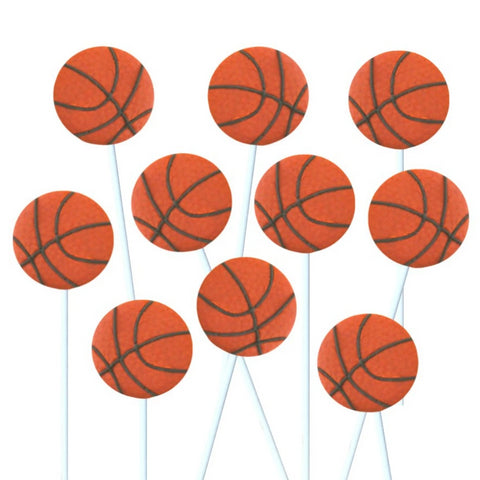 basketball sports marzipan candy lollipops