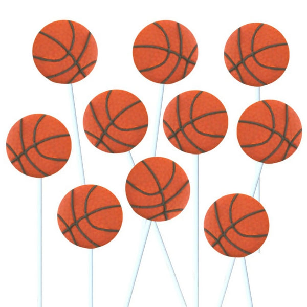 basketball marzipan candy lollipops