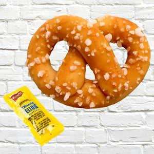 big pretzel marzipan candy sculpture treat
