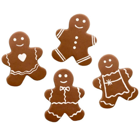 Christmas gingerbread men large marzipan candy tiles