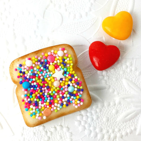 marzipan candy fairy bread with sprinkles