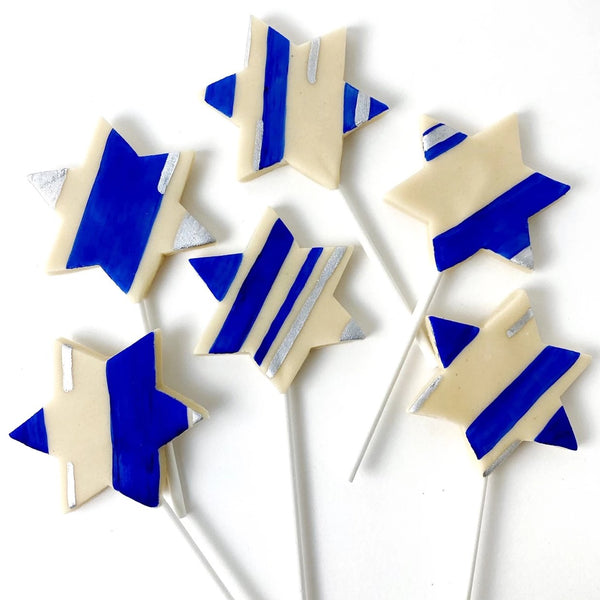 giant star of David marzipan candy lollipops