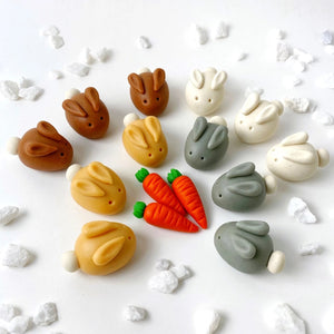 natural easter bunnies marzipan candy sculpture treat