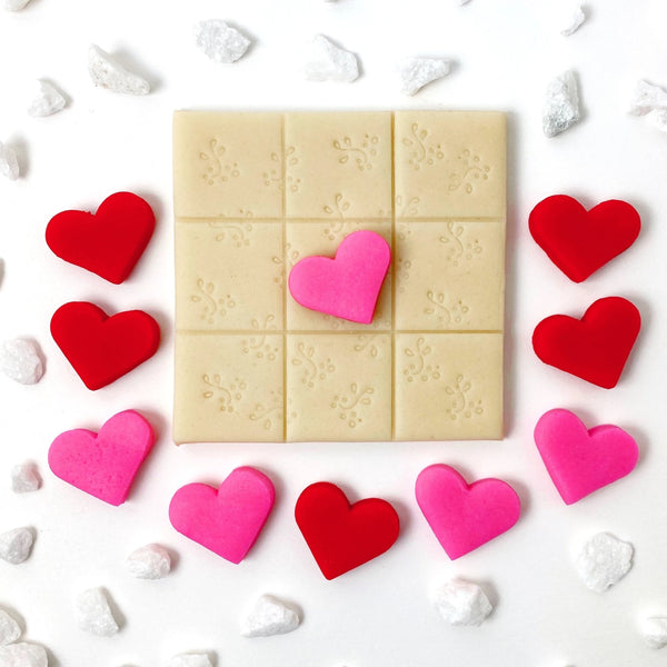 Valentine's Day hearts tic tac toe marzipan candy treats extra view