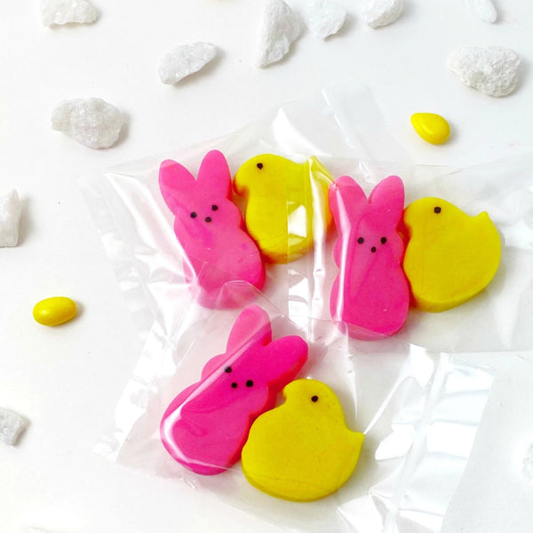 Easter peeps chicks & bunnies mini marzipan candy bite three duets