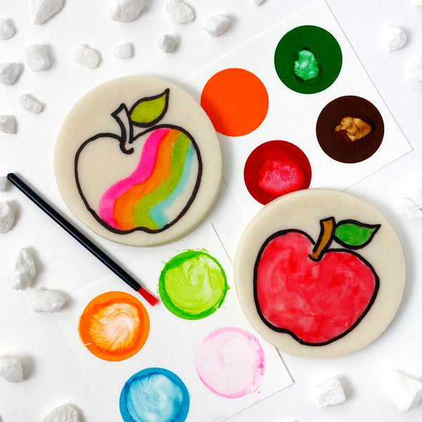 Rosh Hashanah paint your own apples marzipan candy treats
