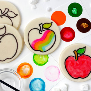 Rosh Hashanah paint your own apples marzipan candy treats square