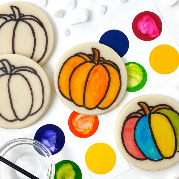 Thanksgiving Autumn Fall paint your own pumpkins marzipan candy treats