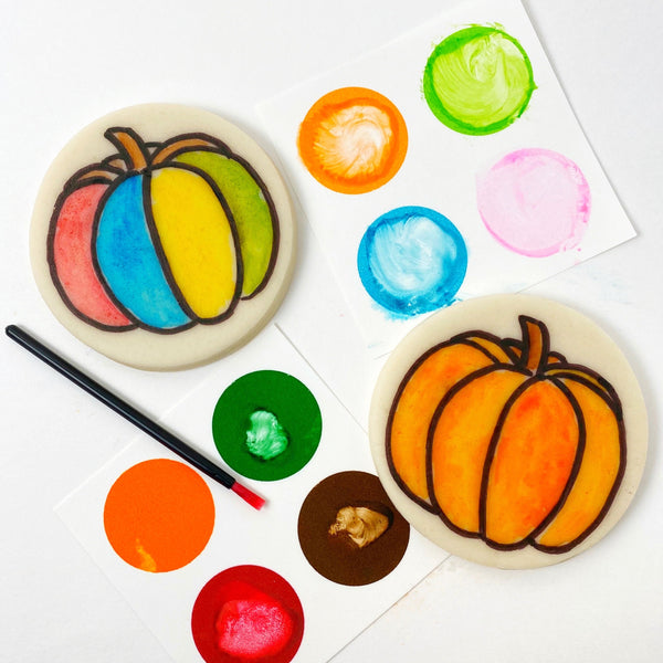Thanksgiving Autumn Fall paint your own pumpkins marzipan candy treats bigger