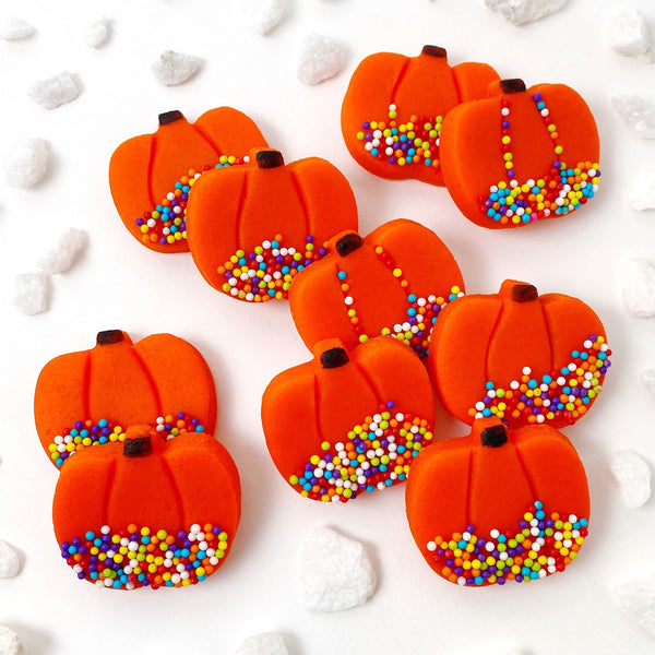 rainbow sprinkle pumpkin tiles