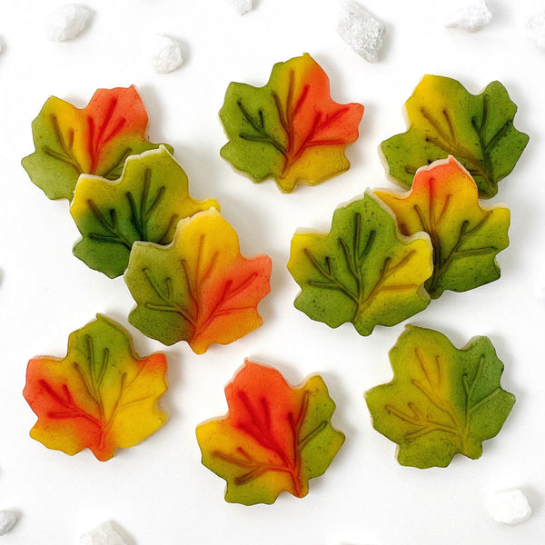 Thanksgiving autumn maple leaf candy treats tiles