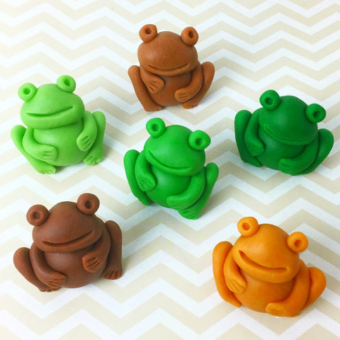 Passover Seder frog marzipan candy sculpture treats for the ten plagues