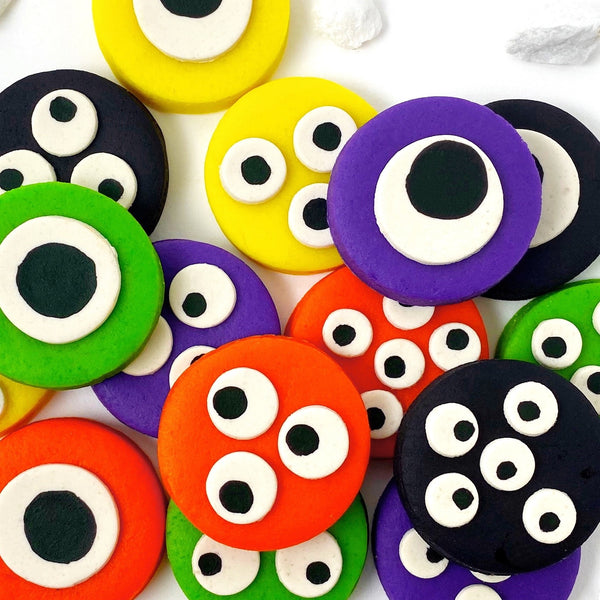 Halloween monster eye tiles close up
