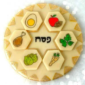 Passover Seder marzipan candy edible seder plate
