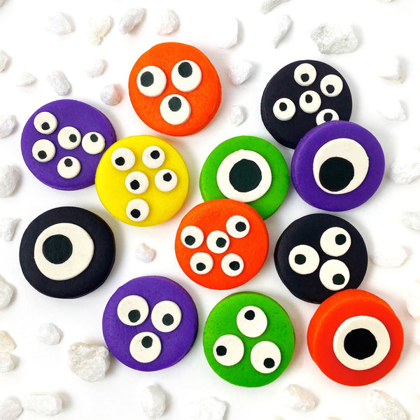 Halloween monster eye tiles in a bunch