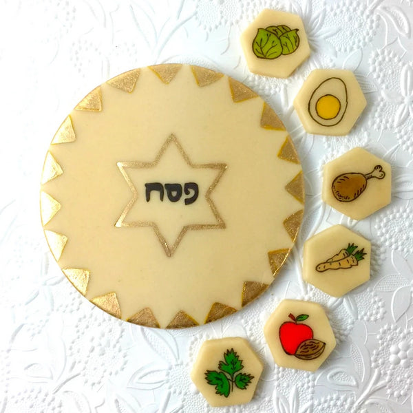 Passover Seder marzipan candy edible seder plate pieces