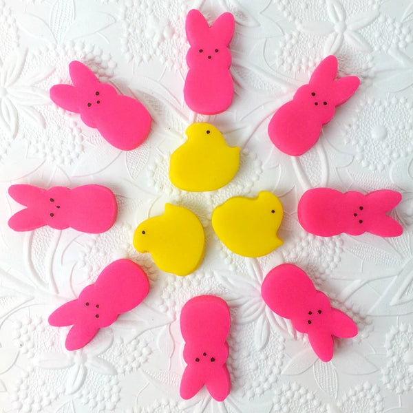 Easter peeps bunnies & chicks mini marzipan candy bites