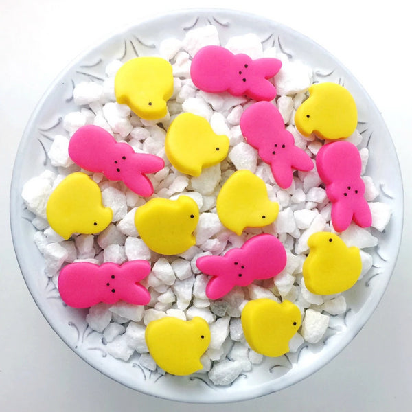 Easter chicks & bunnies peeps mini marzipan candy bites