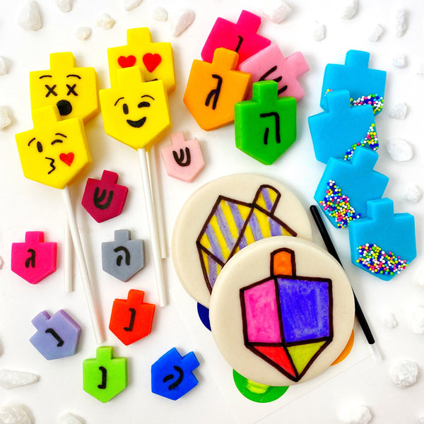 Hanukkah all dreidel collection marzipan candy treats