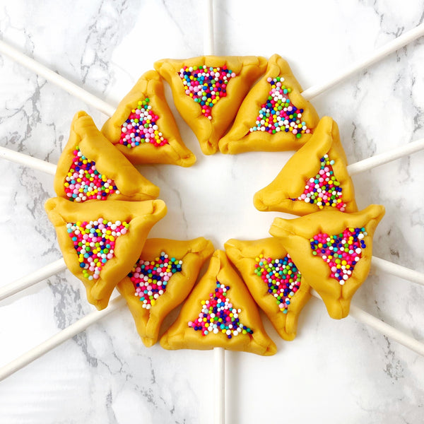 Purim Sprinkle Hamantaschen Pops design