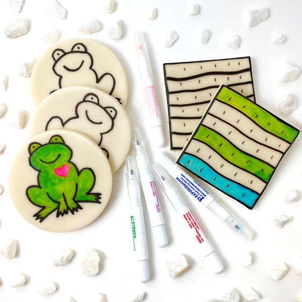 paint your own matzah frog combo markers