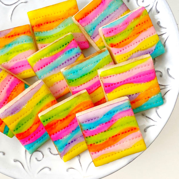 passover fantasy rainbow marzipan matzah close up