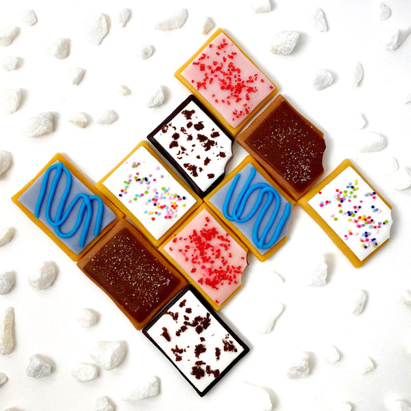 pop tart marzipan candy treats layout