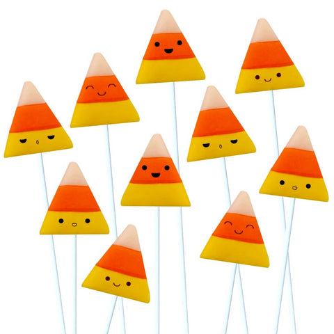 Halloween happy kawaii candy corn marzipan candy lollipops