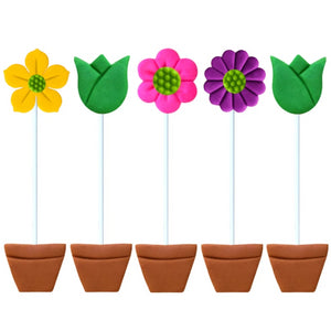 tall flowerpot tulip marzipan candy lollipops