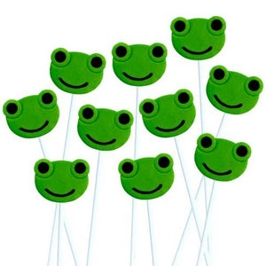 Passover Seder green frogs marzipan candy lollipops