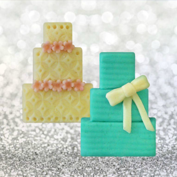 marzipan candy wedding cakes
