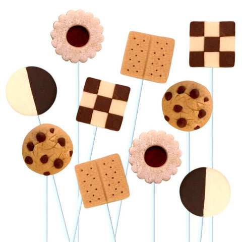 cookie collection marzipan candy lollipops