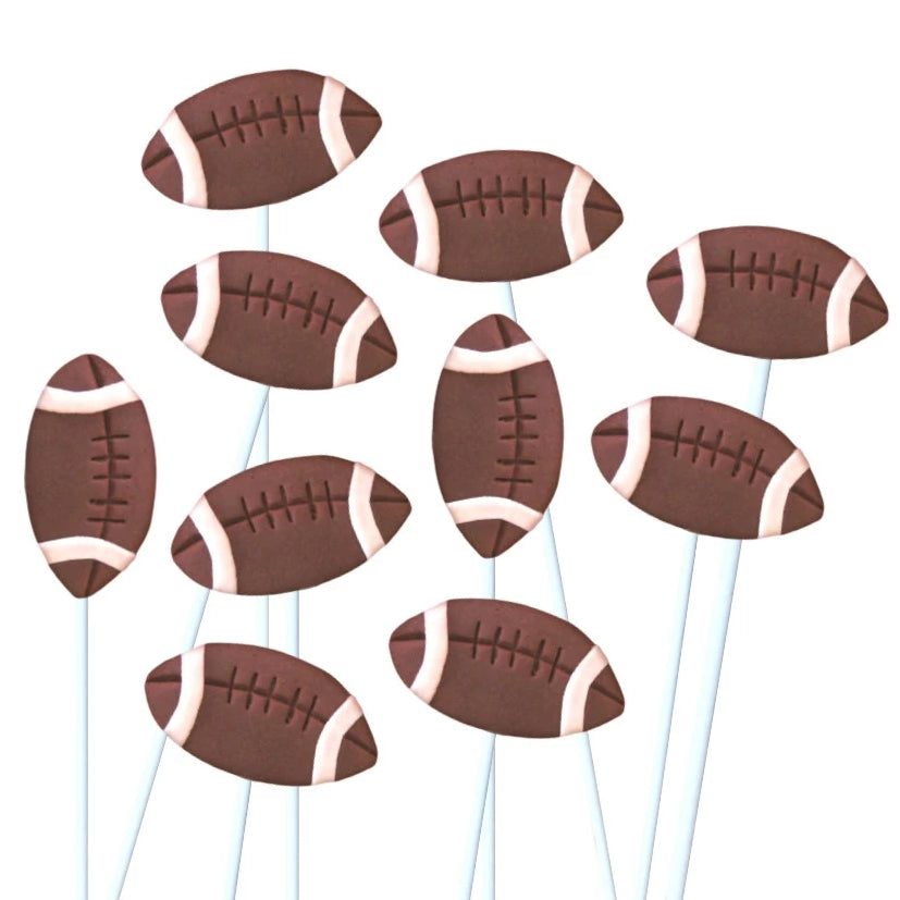 football marzipan candy lollipops