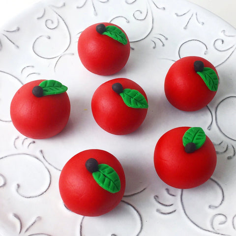 rosh hashanah delicious red apple marzipan sculptures