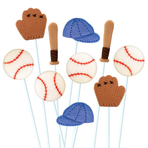 baseball collection marzipan candy lollipops