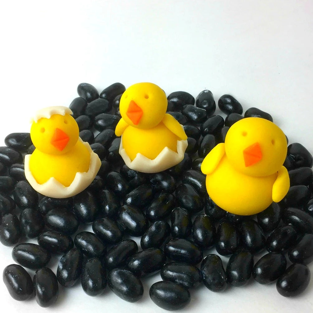 Easter yellow chicks marzipan candy sculpture treats