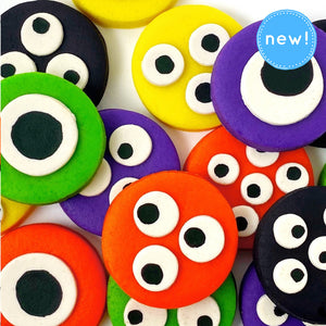 Halloween monster eye tiles close up new