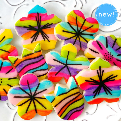 fantasy rainbow flower tiles mother's day candy new